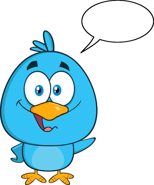 Cartoon blue bird - photo#19