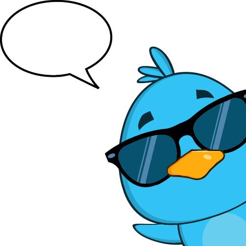 Funny blue bird cartoon vector set 04 free download
