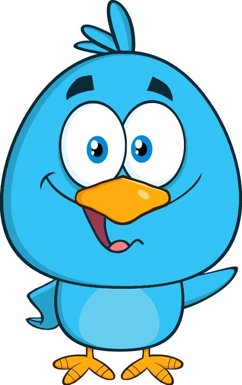 Funny blue bird cartoon vector set 09 - Vector Animal, Vector Cartoon ...