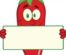 Funny hot pepper cartoon styles vector 06