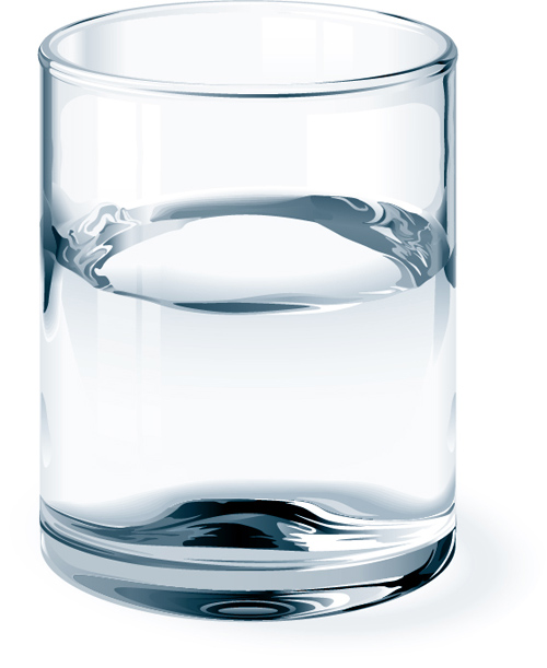 Glass cup and water vector material 01 free download