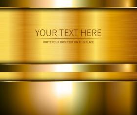 Golden metallic shiny background vector 02
