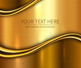 Golden metallic shiny background vector 03
