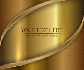 Golden metallic shiny background vector 04