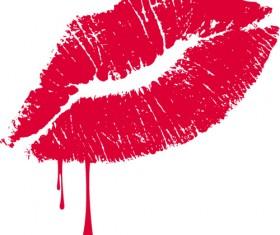 Grunge lipstick design vector 02