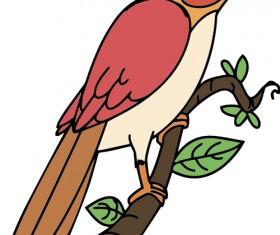 Hand drawn bird cartoon styles vector 02