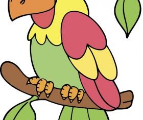 Hand drawn bird cartoon styles vector 03
