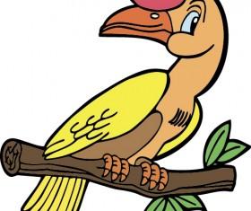 Hand drawn bird cartoon styles vector 04