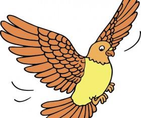 Hand drawn bird cartoon styles vector 05