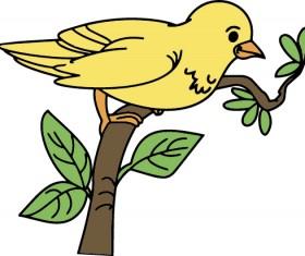 Hand drawn bird cartoon styles vector 07