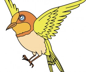 Hand drawn bird cartoon styles vector 08