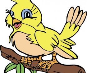Hand drawn bird cartoon styles vector 09