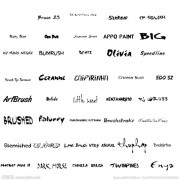 Hand drawn fonts set
