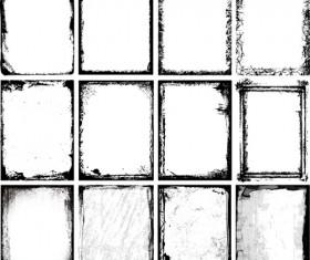 Ink grunge frames vector