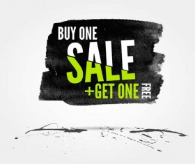 Ink marks with sale elements background vector 05