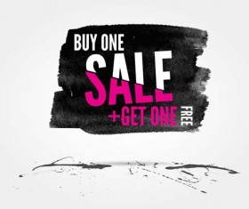 Ink marks with sale elements background vector 06