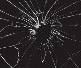 Isolated broken glass vector background 06