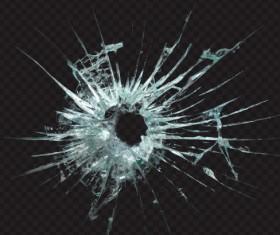 Isolated broken glass vector background 07