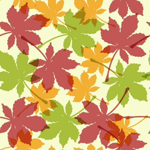 Leaves seamless pattern vector material 02