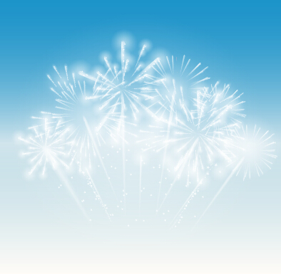Light Colored Fireworks Background Art Vector 08 Vector
