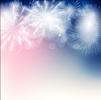 light colored fireworks background art vector 09 free download