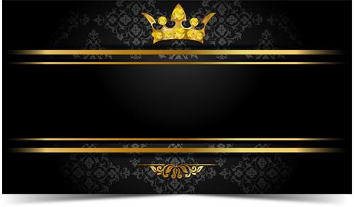 Luxury VIP golden with dark background vector 04 free download
