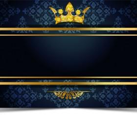 Luxury VIP golden with dark background vector 05