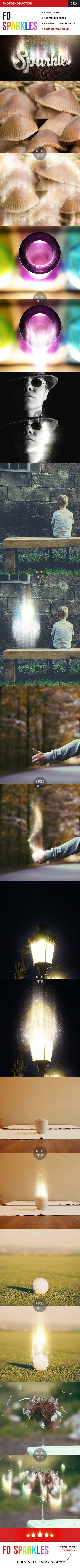 Magic sparkles photoshop action