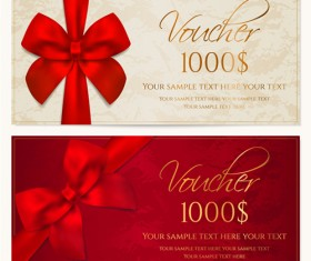 Ornate gift voucher vintage template vector 01