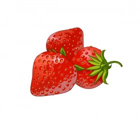 Psd juicy strawberries material
