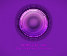 Purple glass psd button
