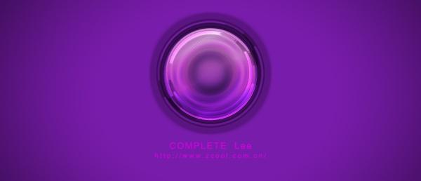 Purple glass psd button