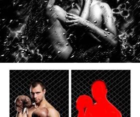 Rainstorm effect Photoshop Action