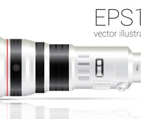 Realistic camera lens vector design set 06
