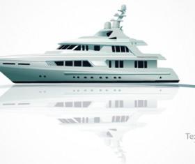 Realistic yacht model design 01 vector
