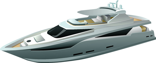 Realistic yacht model design 02 vector