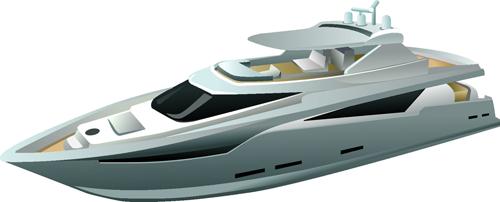 Realistic yacht model design 02 vector