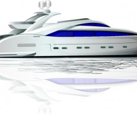 Realistic yacht model design 03 vector