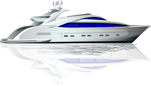 Realistic yacht model design 03 vector