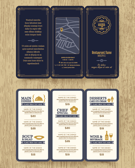 free restaurant menu templates for mac - restaurant menu template vintage vector 03 vector cover
