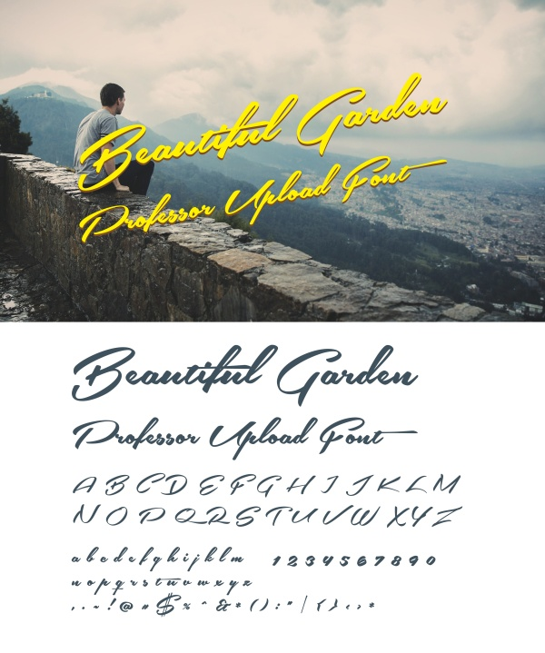 Retro handwriting font