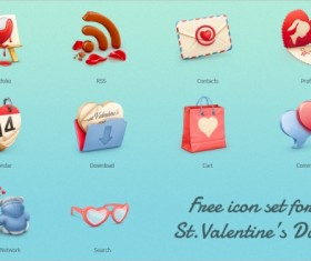 Romantic Valentine Day free icons