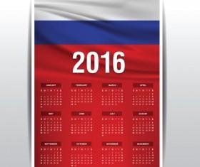 Russian 2016 grid calendar vector material 05