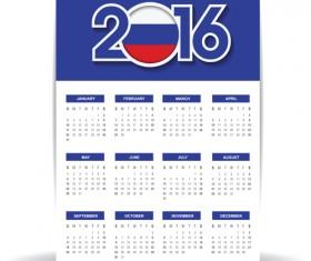 Russian 2016 grid calendar vector material 06