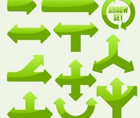 Set of modern arrows design vector material 01