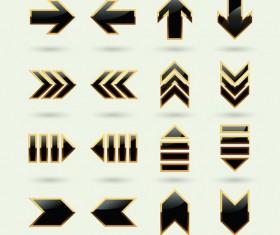 Set of modern arrows design vector material 03
