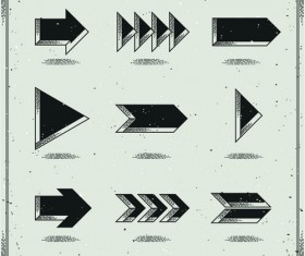 Set of modern arrows design vector material 04
