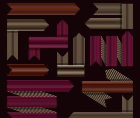 Set of modern arrows design vector material 05