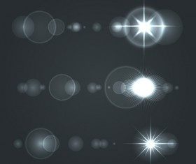 Shining star light illustration vector 02