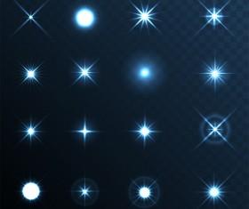 Shining star light illustration vector 03